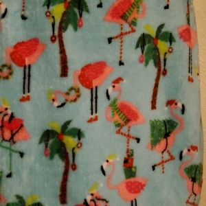 Super Soft Flamingo Christmas Throw 50 in X 60 in